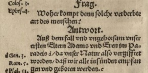 QA 7 of the Heidelberg Catechism -- the first German edition in 1563.